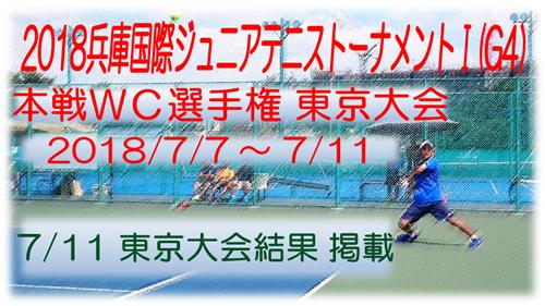 2018 兵庫国際ジュニアテニストーナメントⅠ 本戦WC選手権 東京大会 RESULTS